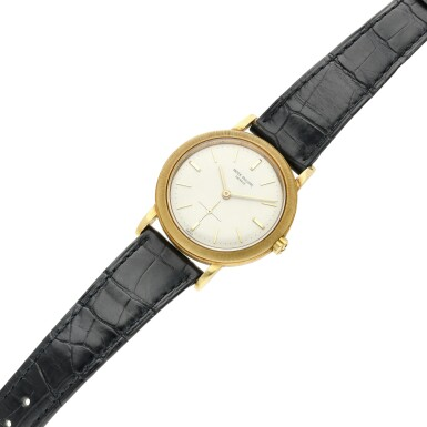 View 6. Thumbnail of Lot 228. Reference 3473  A yellow gold automatic wristwatch, Made in 1962.