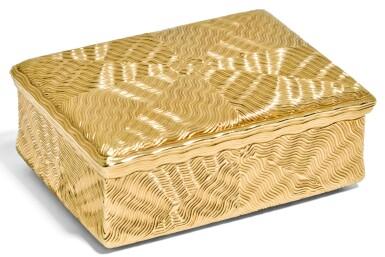 View 1. Thumbnail of Lot 69. A GOLD ROYAL PRESENTATION SNUFF BOX, JEAN DUCROLLAY, PARIS, 1739.