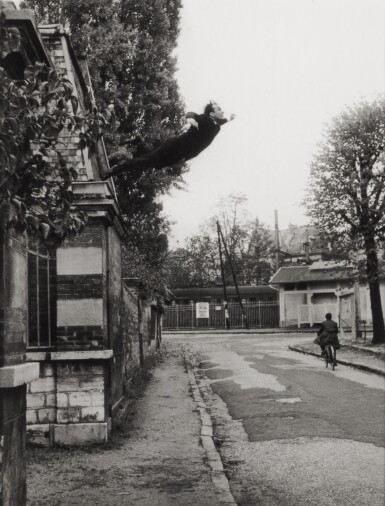 View 1. Thumbnail of Lot 1. Leap into the Void (5, rue Gentil-Bernard, Fontenay-aux-Roses, October 1960) (Artistic action by Yves Klein - Collaboration with Harry Shunk and János Kender).