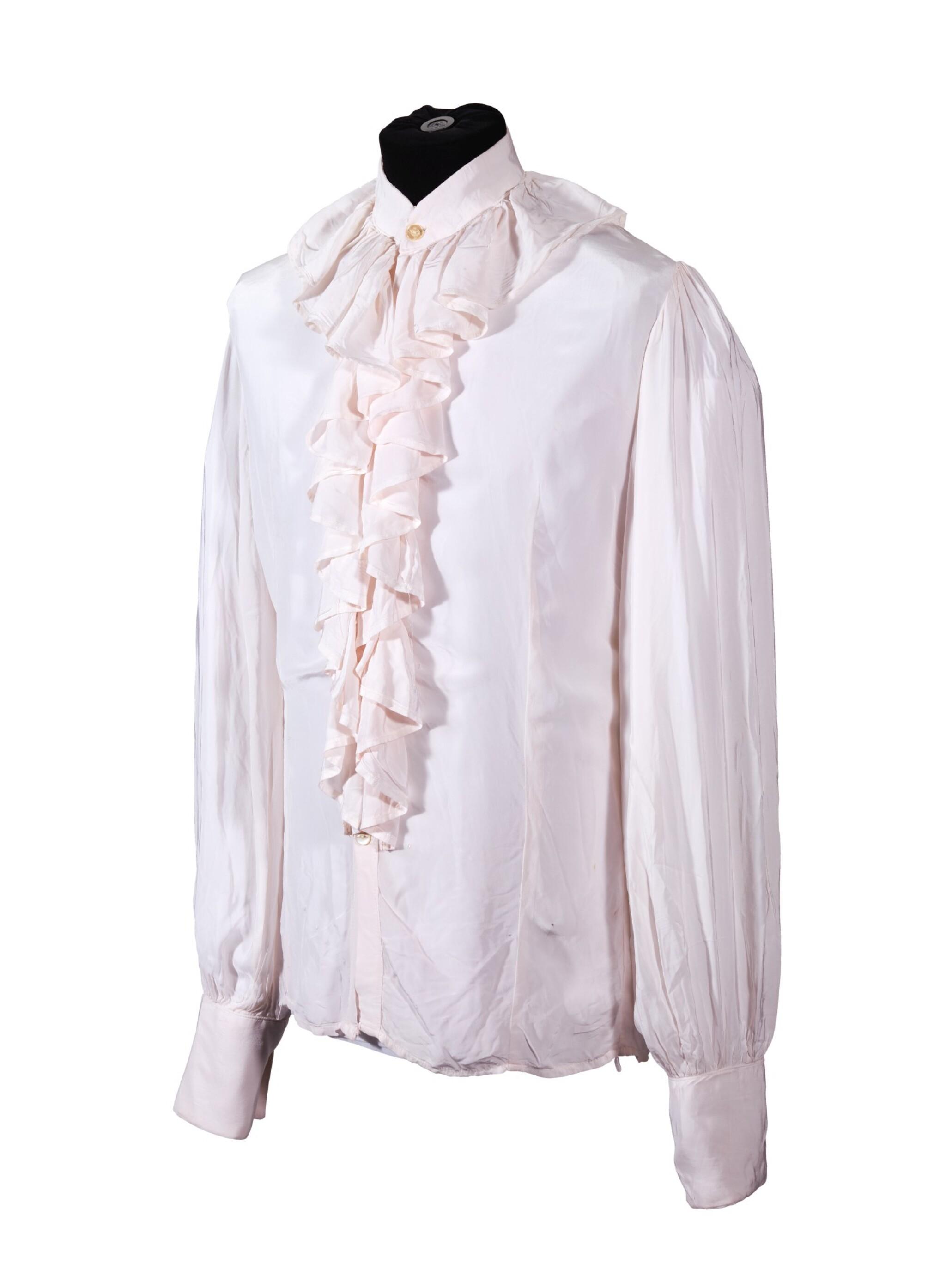 GEORGE HARRISON   White shirt with ruffle collar, c.1968