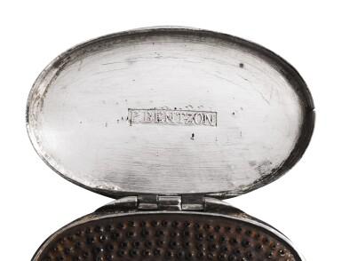A Rare Silver Nutmeg Grater, Peter Bentzon, St. Croix and Philadelphia, circa 1810-20