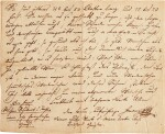 F. Schubert. Autograph letter to his brother Ferdinand, 4 pages, Zseliz, 1818