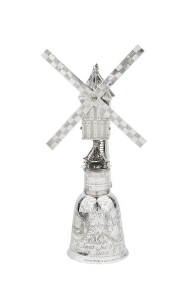 View 7. Thumbnail of Lot 1. A Dutch silver windmill cup, unknown maker's mark, Zierikzee, 1724-1732 | Coupe en forme de moulin à vent en argent, Zierikzee, 1724-1732.