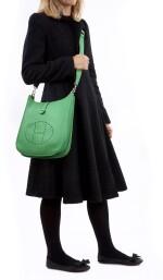 Bamboo leather, canvas and palladium hardware Evelyne PM 29, Hermès, 2014