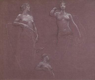 HERBERT JAMES DRAPER | Studies for Ceres and Juno in 'Prospero Summoning Nymphs and Deities'