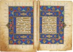 AN ILLUMINATED QUR'AN JUZ (I), PERSIA OR TURKEY, SAFAVID OR OTTOMAN, 16TH/17TH CENTURY