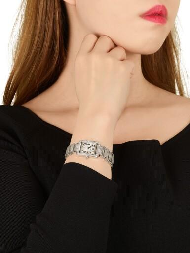 View 5. Thumbnail of Lot 1617. 'Tank Française' Diamond Wristwatch | 卡地亞 | 'Tank Française' 鑽石腕錶.