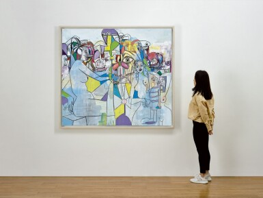 View 3. Thumbnail of Lot 1130. GEORGE CONDO 喬治 · 康多 | PURPLE AND YELLOW ABSTRACTION 紫黃色抽象.