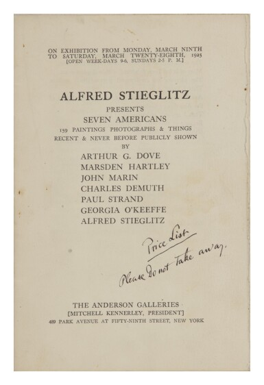 View 4. Thumbnail of Lot 23. ALFRED STIEGLITZ | COLLECTION OF STIEGLITZ GALLERY CATALOGUES FOR AN INTIMATE GALLERY AND AN INTIMATE PLACE, 1923–1946.