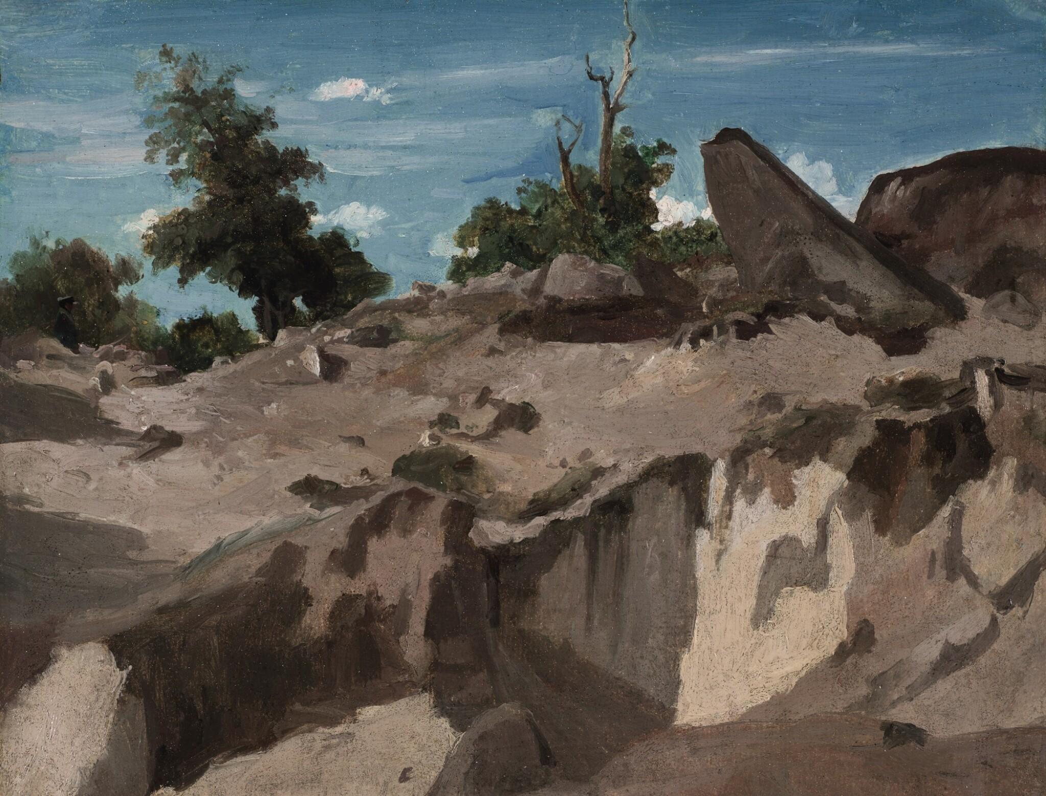 View full screen - View 1 of Lot 642. Forêt de Fontainebleau - Au plateau brûlé.