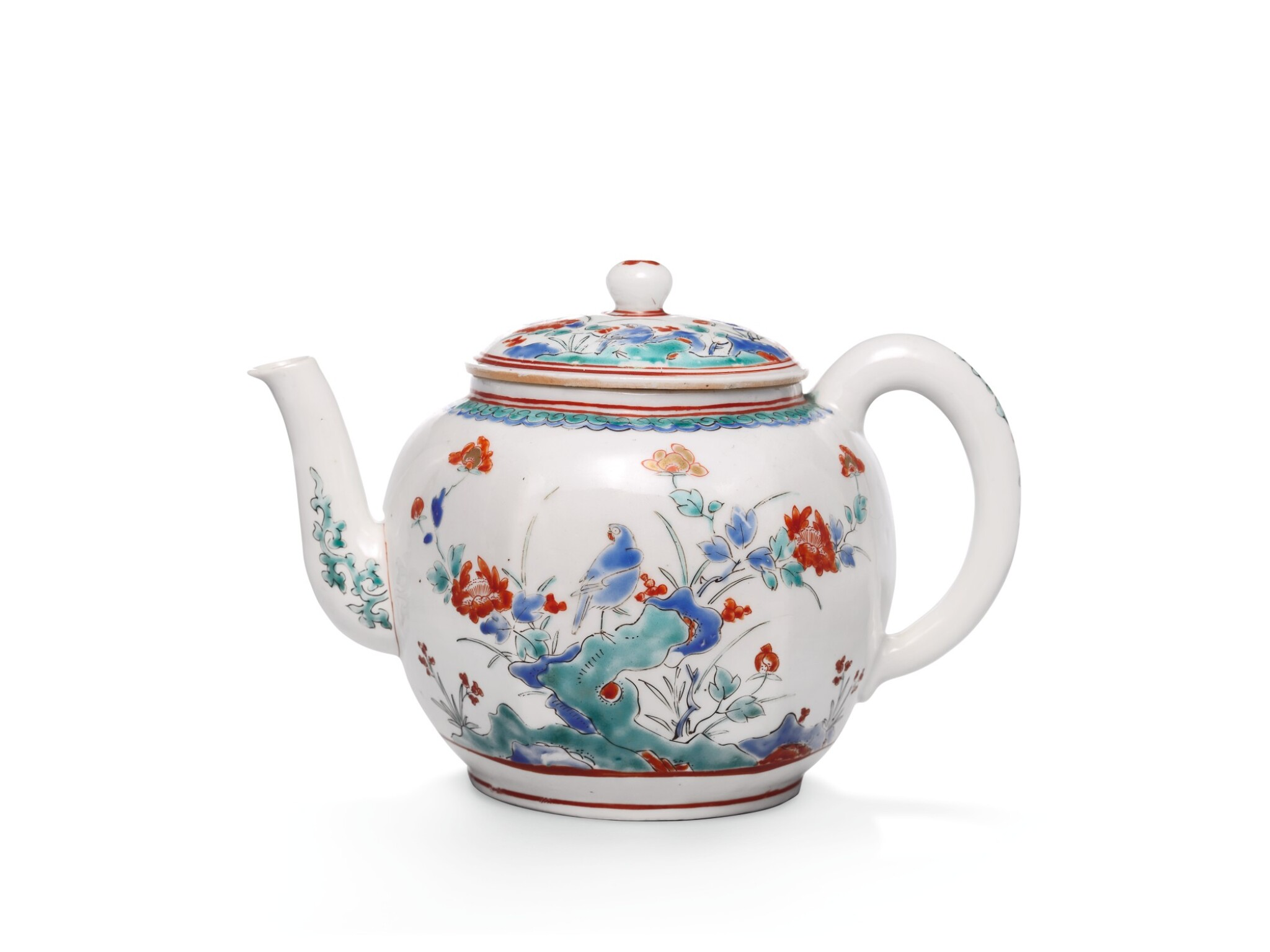 View full screen - View 1 of Lot 91. A KAKIEMON TEAPOT AND COVER, EDO PERIOD, LATE 17TH CENTURY.