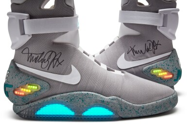 View 8. Thumbnail of Lot 1. Michael J. Fox Dual Signed Nike MAG 'Back to the Future' | 2011.