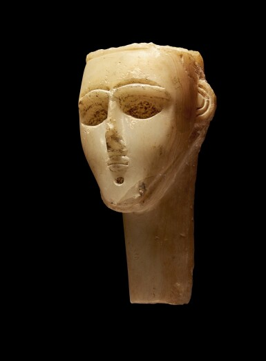 View 1. Thumbnail of Lot 73. An Alabaster Head of a Man, Southern Arabia, circa 2nd/1st Century B.C..