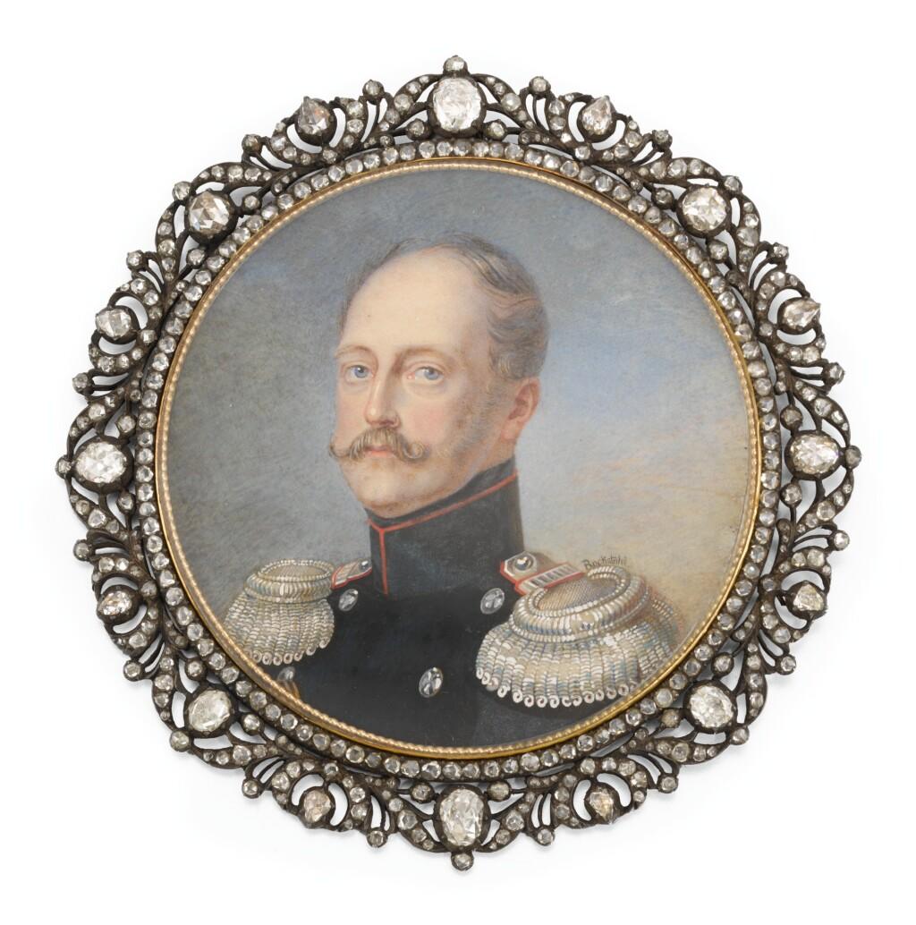 A MINIATURE OF EMPEROR NICHOLAS I, ATTRIBUTED TO ALOIS GUSTAV ROCKSTUHL, CIRCA 1850