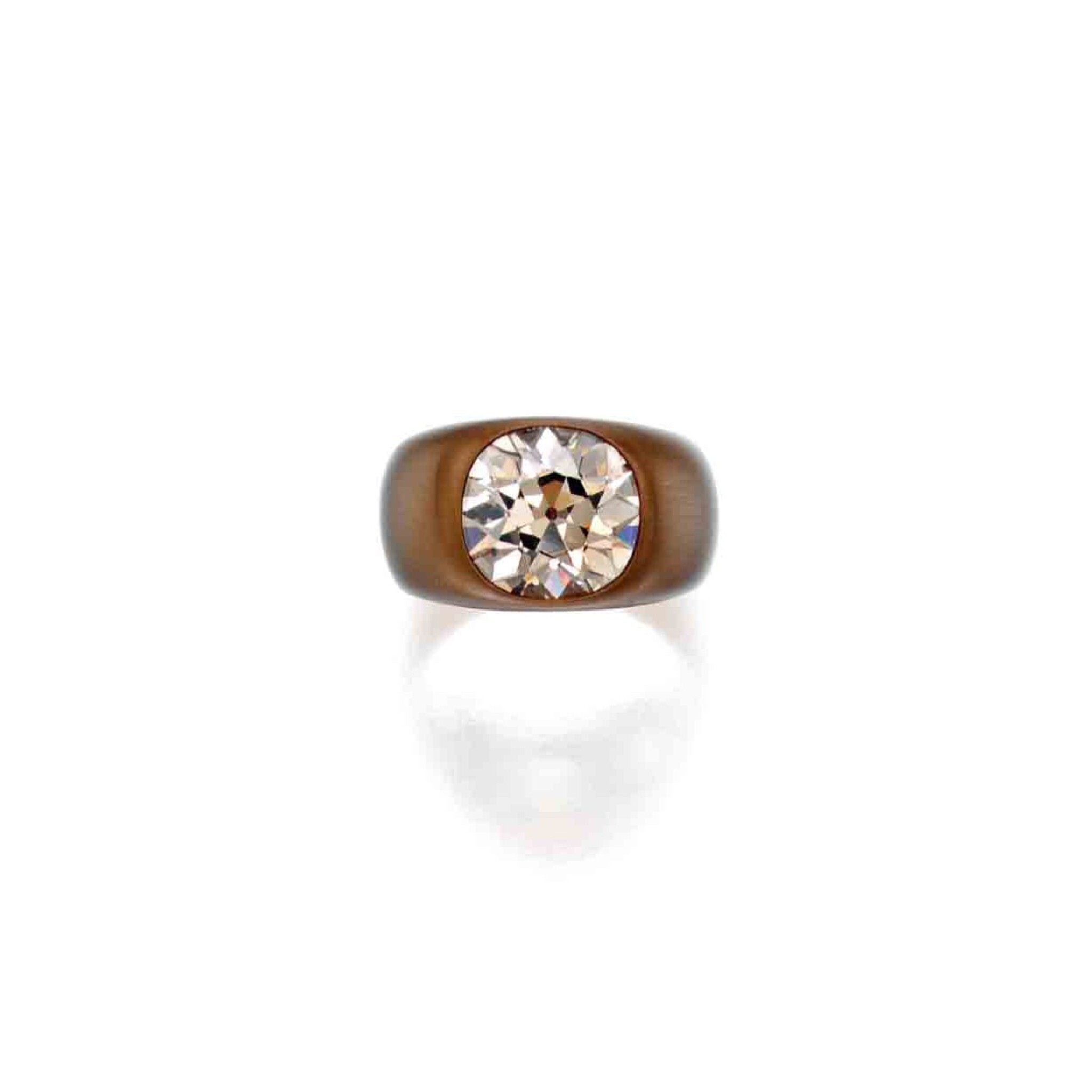 View full screen - View 1 of Lot 217. Bronze and Colored Diamond Ring.