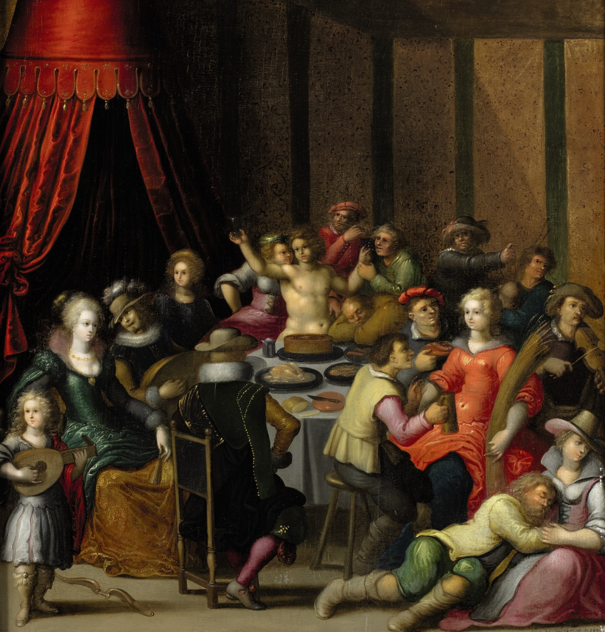 View full screen - View 1 of Lot 7. LOUIS DE CAULLERY  |  THE FEAST OF BACCHUS .
