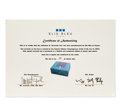 View 4. Thumbnail of Lot 1. Liu Ye 劉野 X Elie Bleu l Blue Sycamore Humidor 藍色懸鈴木雪茄盒.