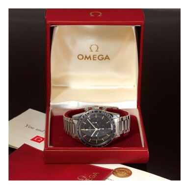 OMEGA |  SPEEDMASTER REF 105.003-65 'PRE-PROFESSIONAL',  A STAINLESS STEEL CHRONOGRAPH WRISTWATCH WITH BRACELET, MADE IN 1968