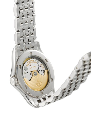 View 3. Thumbnail of Lot 139. PATEK PHILIPPE  |  REFERENCE 5107,  A WHITE GOLD BRACELET WATCH WITH DATE, MADE IN 2002.