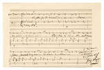 "G. Bizet, Autograph musical quotation of the 'Flower Song' from ""Carmen"", in the album of the first Don José, 1868-1875"