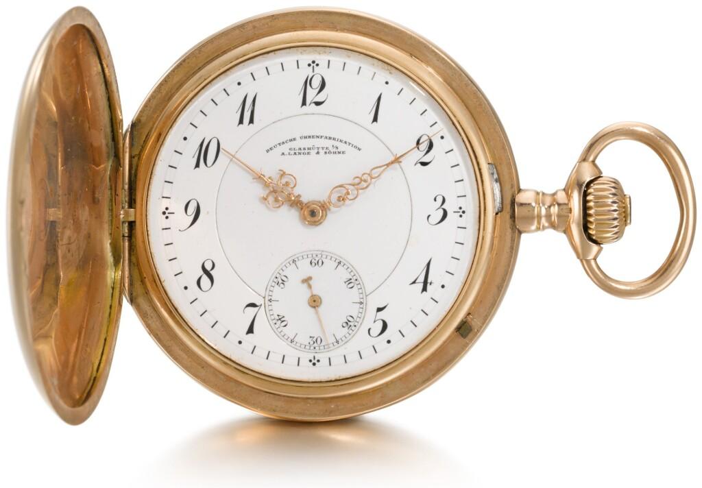 A. LANGE & SÖHNE, DEUTSCHE UHRENFABRIKATION, GLASHÜTTE | A PINK GOLD HUNTING CASED KEYLESS LEVER WATCH  CIRCA 1910, NO. 53410