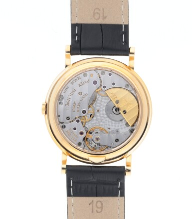 REF 5039J YELLOW GOLD PERPETUAL CALENDAR WRISTWATCH WITH MOON PHASES, 24-HOUR AND LEAP-YEAR INDICATION MADE IN 1998