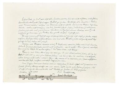 View 9. Thumbnail of Lot 92. Vienna. Autograph manuscripts by Bartok, Berg, Schoenberg, Strauss, Webern, Kokoschka, Schnitzler etc to D.J. Bach, 1924.