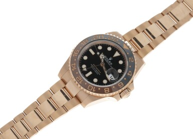 View 4. Thumbnail of Lot 15. ROLEX | REFERENCE 126715 GMT-MASTER II 'ROOT BEER' A PINK GOLD AUTOMATIC DUAL TIME ZONE WRISTWATCH WITH DATE AND BRACELET, CIRCA 2018.