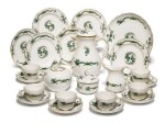 A Meissen 'Green-Dragon' Pattern Tea and Coffee Service, 20th Century