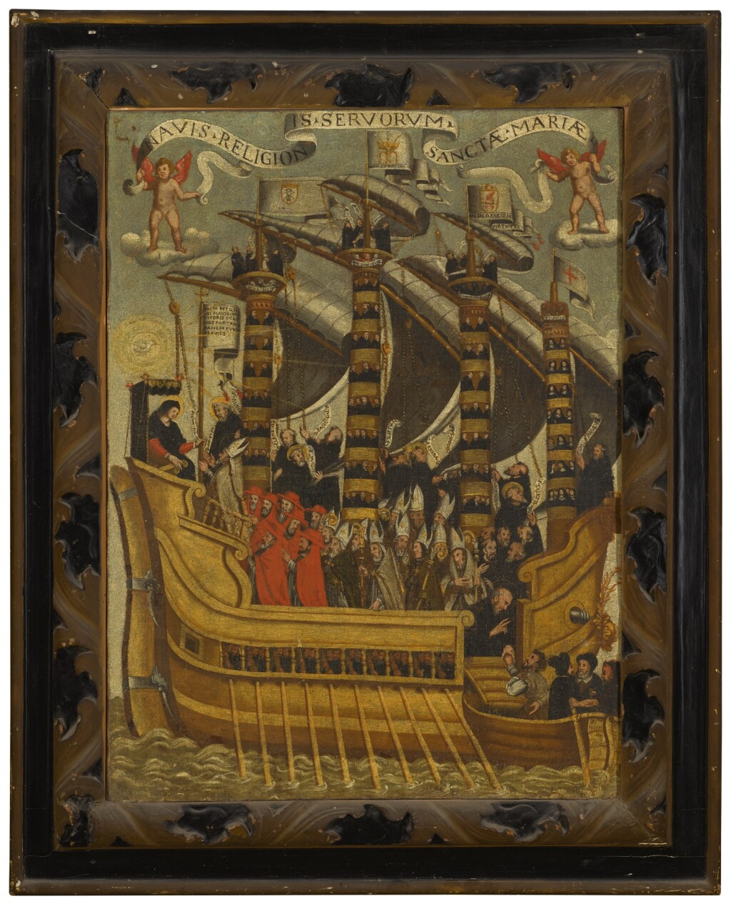SPANISH PROVINCIAL SCHOOL, CIRCA 1700 | The Virgin at the helm of the Ship of Life, interceding for the souls of the clergy
