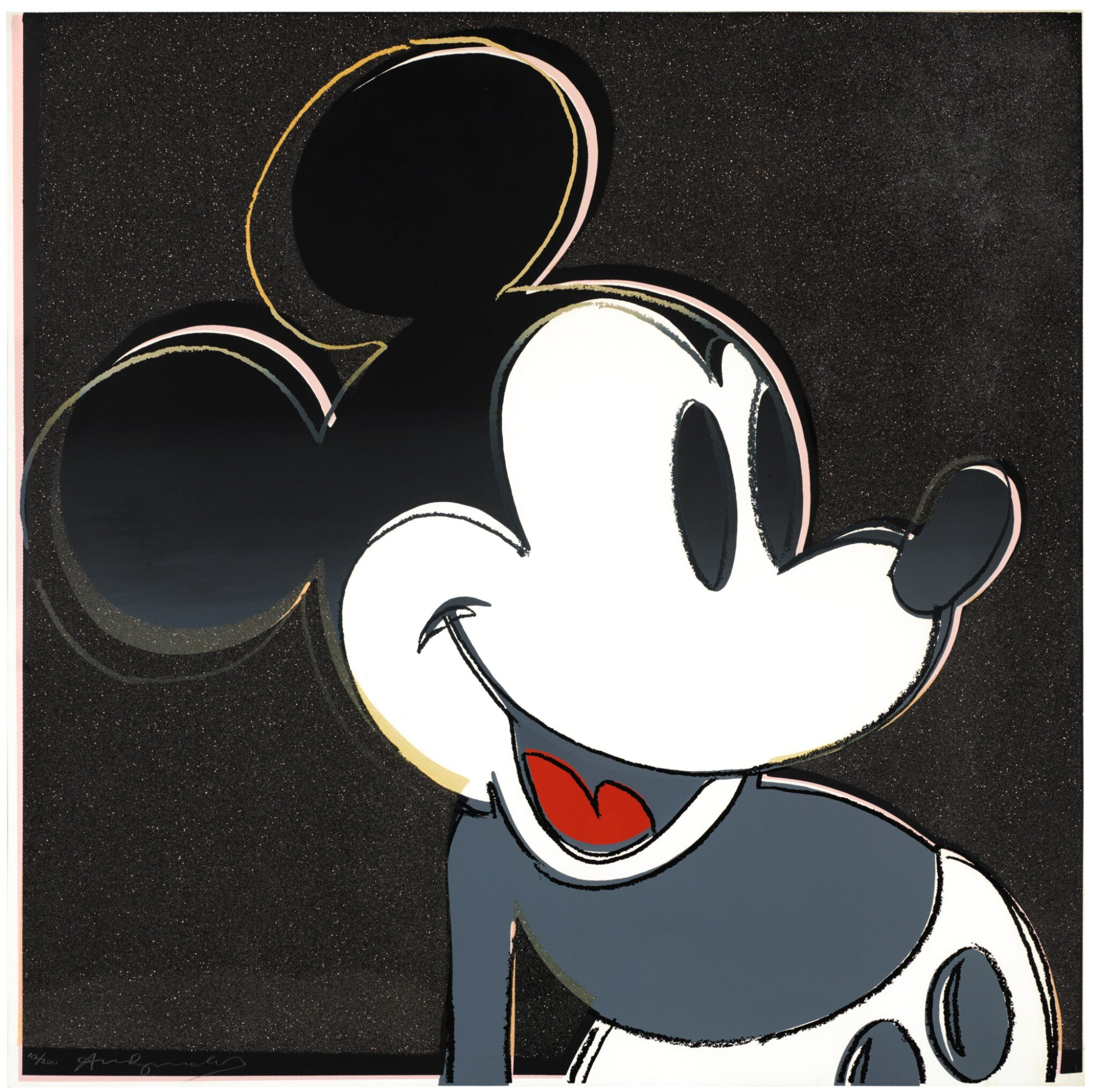 View full screen - View 1 of Lot 178. ANDY WARHOL   MICKEY MOUSE (F. & S. II.265).
