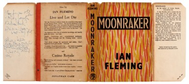 View 3. Thumbnail of Lot 16. FLEMING   Moonraker, 1955, first edition, presentation copy inscribed to Raymond Chandler.