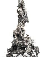 A PAIR OF LARGE SILVER-PLATED BRONZE SEVEN-LIGHT CANDELABRA, CHRISTOFLE, PARIS, BEFORE 1854 | PAIRE DE CHANDELIERS À SEPT LUMIÈRES EN BRONZE ARGENTÉ PAR CHRISTOFLE, PARIS, AVANT 1854
