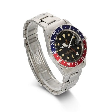 View 3. Thumbnail of Lot 338. ROLEX | GMT-MASTER POINTED CROWN GUARDS, UNDERLINE, DOUBLE SWISS, REF 1675, STAINLESS STEEL DUAL-TIME WRISTWATCH WITH DATE AND BRACELET, CIRCA 1963.