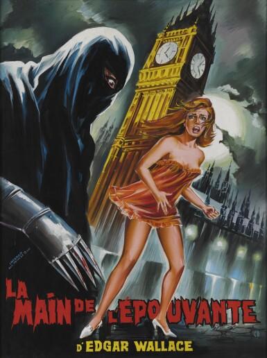 Die Blaue Hand / Creature with the Blue Hand / La Main de L'Epouvante (1967) original artwork, French