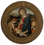 PSEUDO-PIERFRANCESCO FIORENTINO | MADONNA AND CHILD WITH THE INFANT ST. JOHN THE BAPTIST AND AN ANGEL