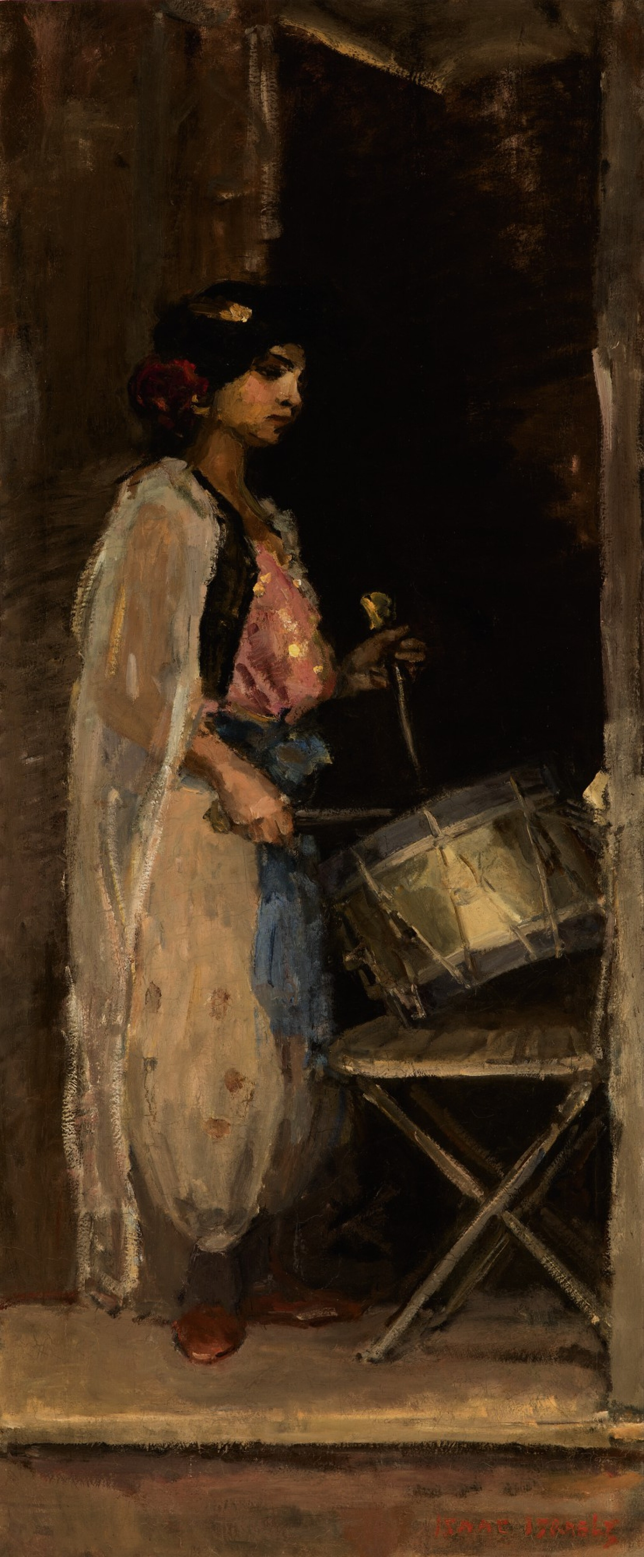 View 1 of Lot 187.  ISAAC ISRAELS | THE DRUMMER.