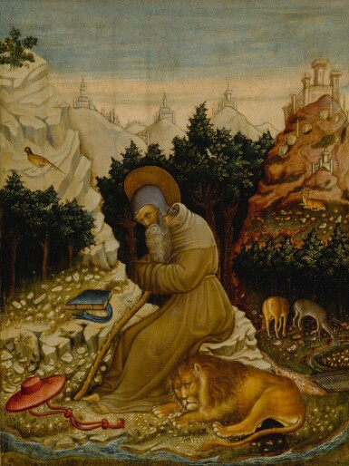 St. Jerome in the wilderness with a lion