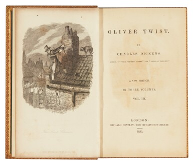 """View 2. Thumbnail of Lot 48. Dickens, Oliver Twist, 1839, """"new edition"""" [second edition, later issue]."""