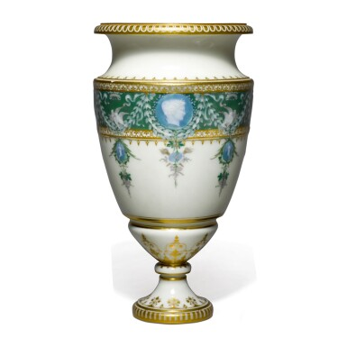A SÈVRES PÂTE-SUR-PÂTE VASE 1887-88