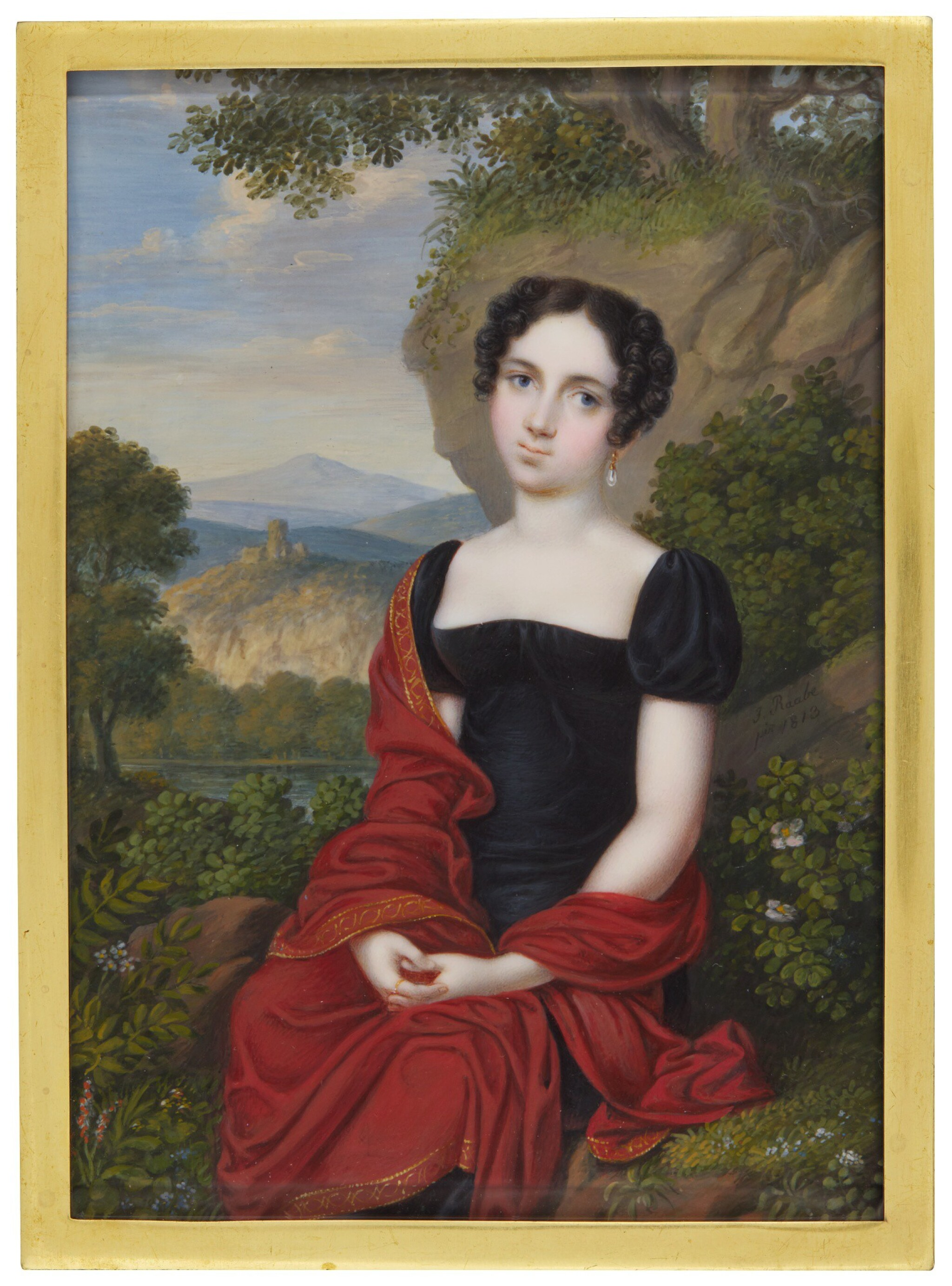 View full screen - View 1 of Lot 355. KARL JOSEF RAABE | PORTRAIT OF A LADY.