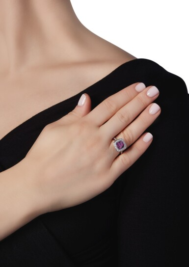 PINK SAPPHIRE AND DIAMOND 'LEGACY' RING, TIFFANY & CO.