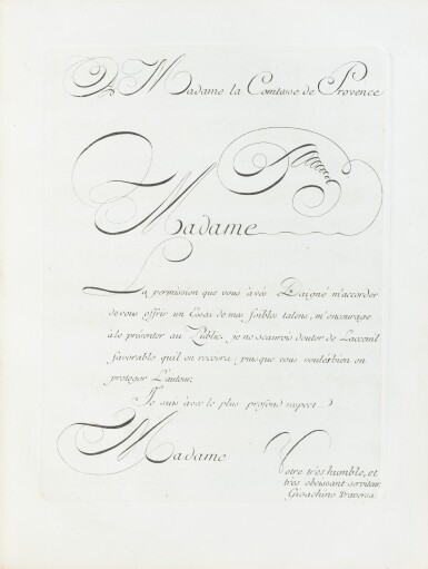 View 3. Thumbnail of Lot 83. Six sonates à violon seul. [Vers 1770]. In-4. Maroquin rouge aux armes de la ctsse de Provence..