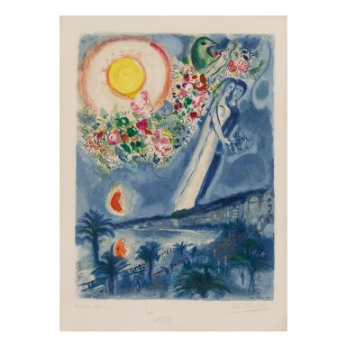 CHARLES SORLIER AFTER MARC CHAGALL| FIANCÉS IN THE SKY AT NICE (M. CS 36)