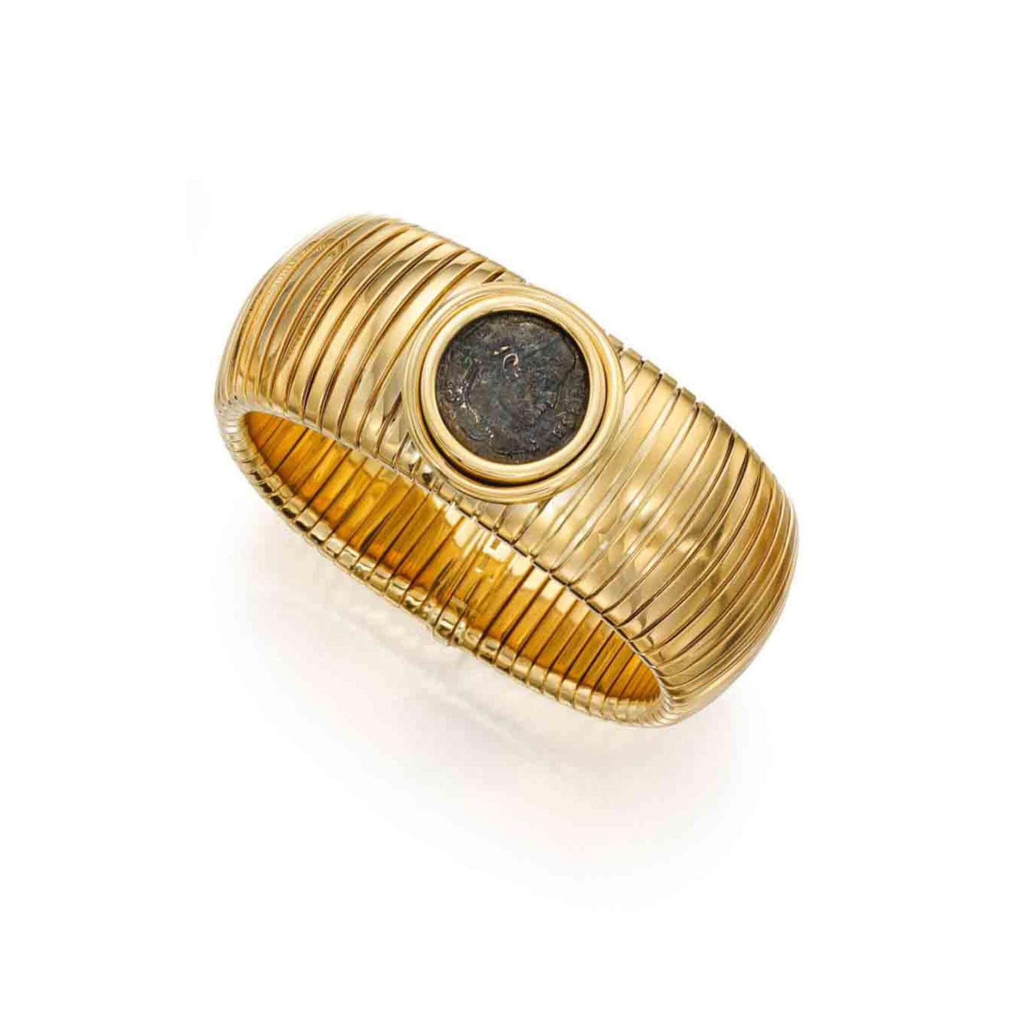 View full screen - View 1 of Lot 240. Gold and Antique Coin 'Monete' Bracelet.