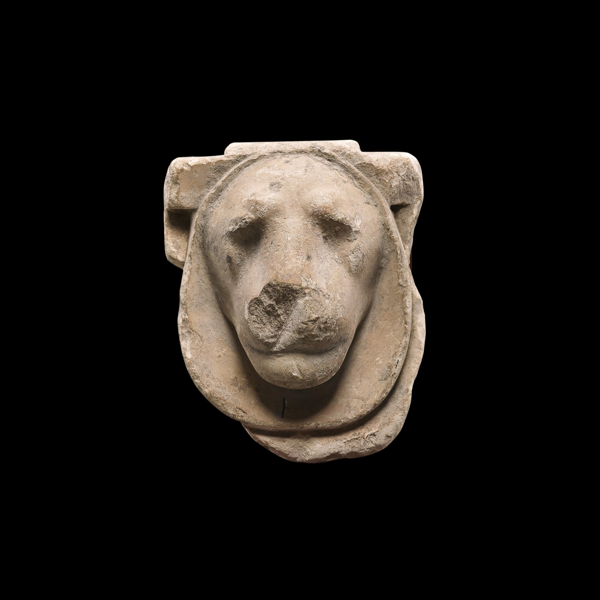 View 1 of Lot 49. An Egyptian Limestone Head of a Lion, Ptolemaic Period, 305-30 B.C..