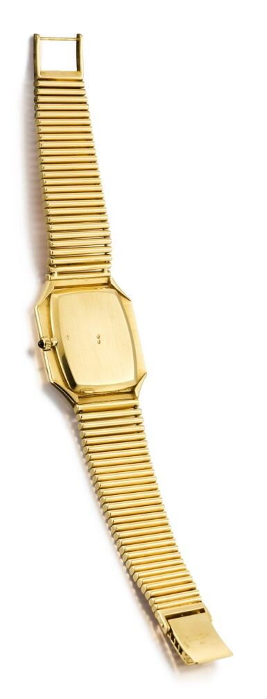 View 3. Thumbnail of Lot 616. PATEK PHILIPPE | REFERENCE 3729/1,  A YELLOW GOLD BRACELET WATCH WITH ONYX DIAL, MADE IN 1976.