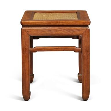 View 4. Thumbnail of Lot 146. A 'huanghuali' stool, Qing dynasty .