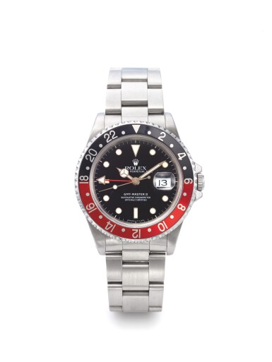 ROLEX | REF 16710 GMT-MASTER II, A STAINLESS STEEL AUTOMATIC DUAL TIME WRISTWATCH WITH DATE AND BRACELET CIRCA 1990