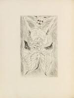 Les Sans cou. 1934. 1/130 ex. Eau-forte originale de Masson. Envoi a.s. de Desnos à Skira